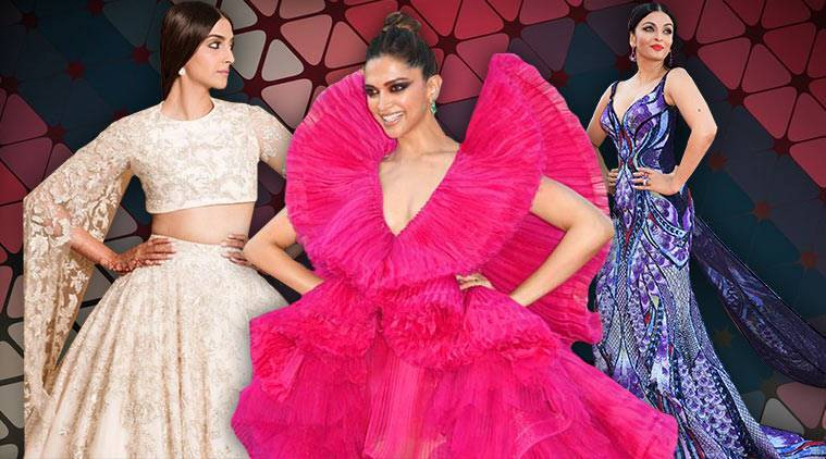 Cannes 2018, Bollywood celebs at Cannes, Aishwarya Rai Bachchan Cannes, Aishwarya Rai Bachchan butterfly gown Cannes, Deepika Padukone Cannes outfits, Deepika Padukone pink gown Cannes, Kangana Ranaut Cannes, Huma Qureshi Cannes, Mahira Khan Cannes outfits, indian express, indian express news