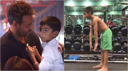 Ajay Devgn's son Yug takes up fitness challenge, leaves Varun Dhawan, Deepika Padukone and others behind