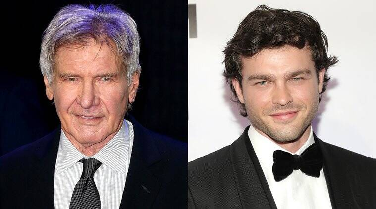 alden ehrenreich meets harrison ford in a solo a star wars story promotional interview
