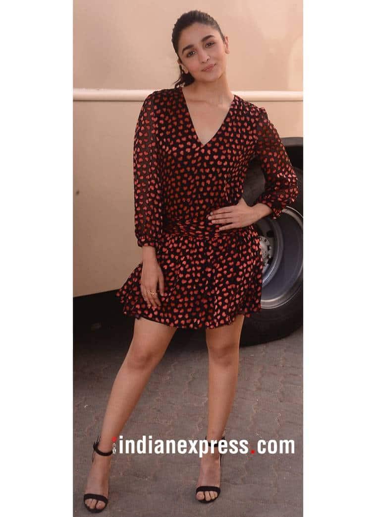 Alia Bhatt, Alia Bhatt latest photos, Alia Bhatt fashion, Alia Bhatt Raazi promotions, Alia Bhatt Alice and Olivia, Alia Bhatt Raazi fashion, Alia Bhatt mini dresses, indian express, indian express news
