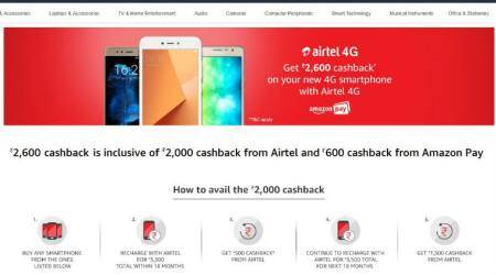 Airtel, Amazon to offer Rs 2600 cashback on budget 4G smartphones: Here's how it will work