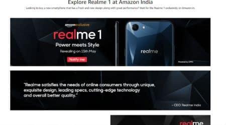 Realme 1, Oppo Realme 1, Realme 1 Amazon India, Realme 1 specifications, Realme 1 price in India, Realme 1 launch in India, Xiaomi, Redmi 5A, Android