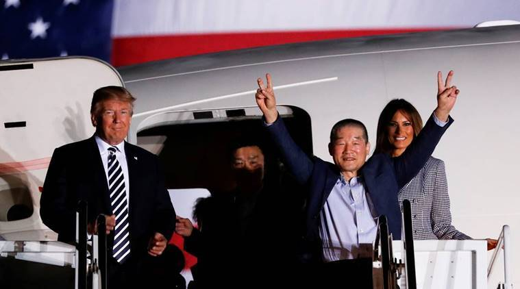 donald trump, us prisoners, american prisons freed, north korea, united states, indian express