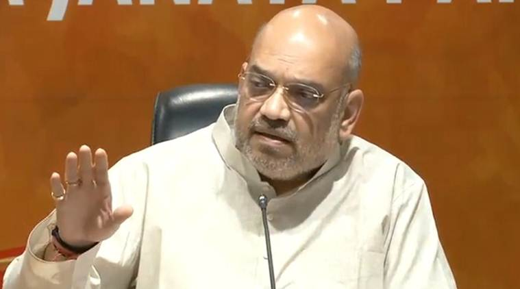Why are you cheering? The vote was against you, Amit Shah tells Congress on Karnataka