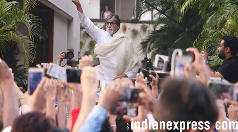 Mumbai Congress chief Sanjay Nirupam, who led a morcha over the hike in fuel prices outside the suburban Collector's office, targeted actor Amitabh Bachchan.