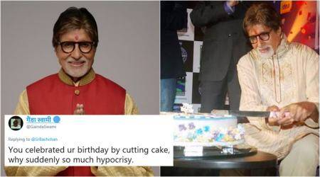 Amitabh Bachchan questions 'westernised' birthday celebrations; Tweeple shower him with cake-cutting photos
