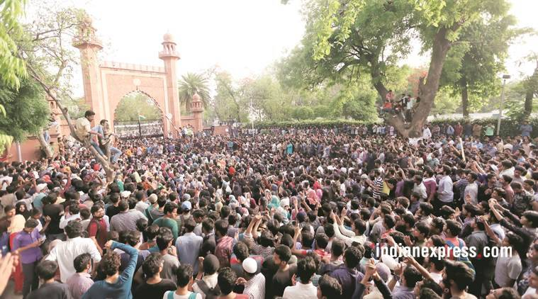 Jinnah painting row: Aligarh Muslim University students end protest