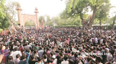 Jinnah portrait row: Aligarh Muslim University students end protest