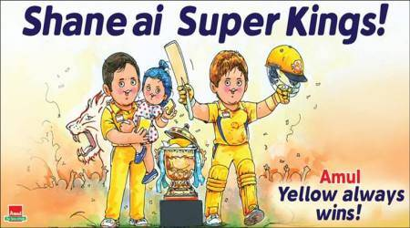 IPL 2018 Final: Amul cartoon on CSK's victory showing Ziva, Dhoni and Shane Watson is spot on!