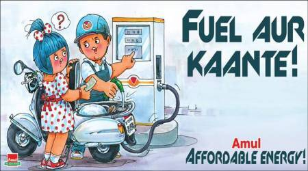 'Fuel aur Kaante': Amul captures fuel price hike debate with this cartoon