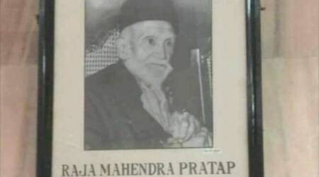 No minister Abhimanyu, AMU already has a portrait of Raja Mahendra Pratap Singh