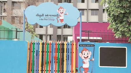 AMC's latest initiative under Smart City makes learning at anganwadi centre fun