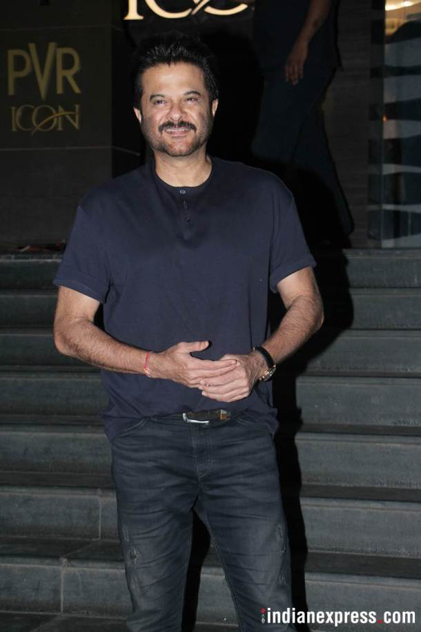 anil kapoor at veere di wedding screening