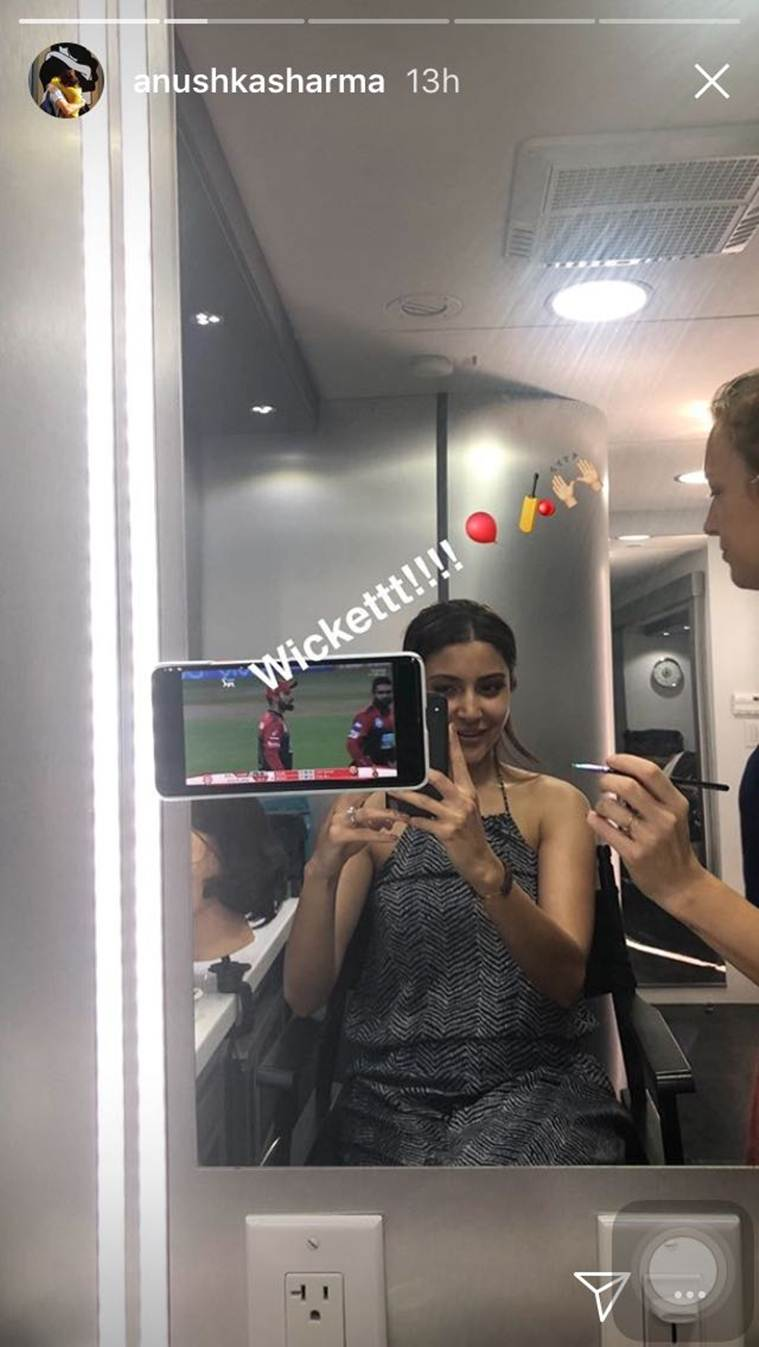 anushka sharma on the sets of zero