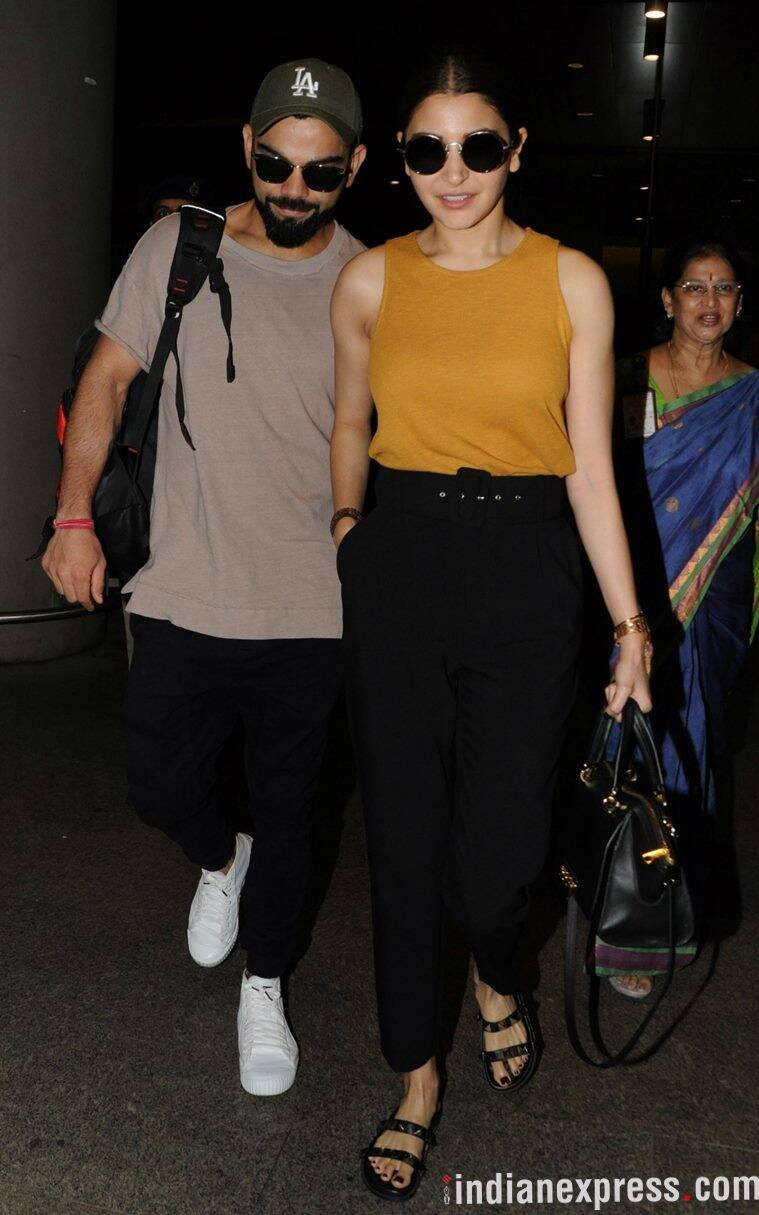 Anushka Sharma, Anushka Sharma airport fashion, Anushka Sharma airport style, anushka sharma virat kohli airport, Anushka Sharma latest photos, Anushka Sharma latest news, Anushka Sharma images, Anushka Sharma updates, indian express, indian express news