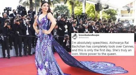 Cannes 2018: Aishwarya Rai Bachchan dazzles in ultra-violet butterfly gown; Twitterati call her the 'queen'