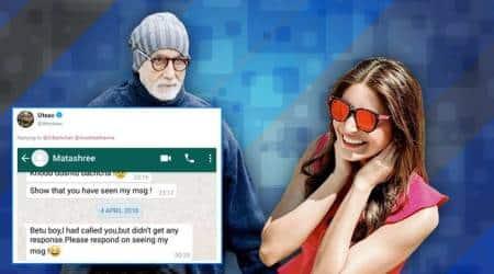 Anushka Sharma, amitabh bachchan, Big b tweets to Anushka, Anushka Sharma misses big b's birthday wish, big b wishes Anushka, wishing on tweet, Anushka Sharma pics, Anushka Sharma birthday, Anushka Sharma tweets, indian express, indian express news