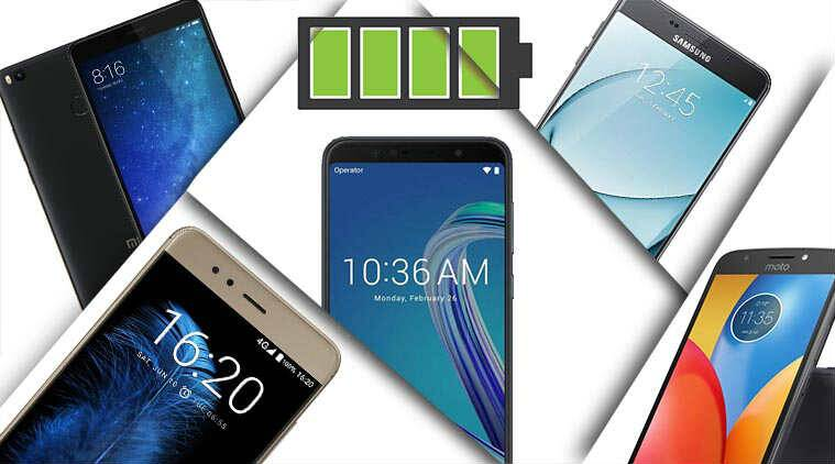 top five smartphones with the best battery life, top five smartphones with the best battery backup, big battery smartphones, smartphones with 5000mAh battery, asus zenfone pro max m1, xiaomi mi max 2, moto e4 plus, infocus turbo 5, samsung galaxy a9 pro, big battery, smartphones, android, mobiles