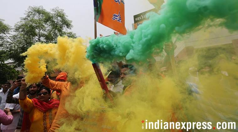 Karnataka assembly election results: Caution, celebration, dejection — the many moods at BJP offices