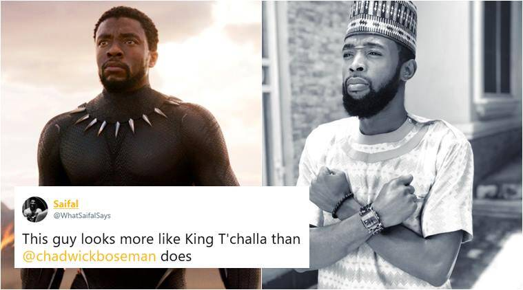 black panther, Chadwick Boseman, Chadwick Boseman lookalike, T'Challa in Black Panther, T'Challa lookalike, black panther doppleganger, viral news, indian express, trending news
