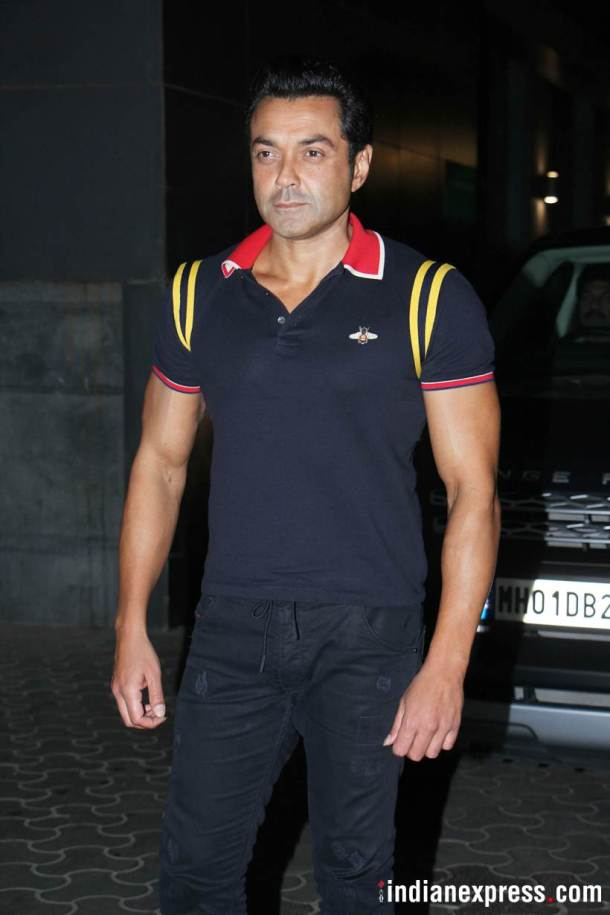 race 3 actor bobby deol at veere di wedding screening