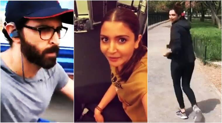 fitness challenge, fitness challenge videos, bollywood stars taking fitness challenge, bollywood stars' fitness challenge videos, Virat Kohli fitness challenge, anushka sharma fitness challenge, Virat today, Viral in India, Indian express, Indian express News