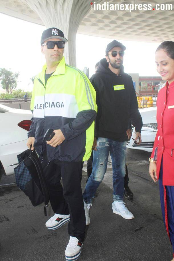 karan johar spotted at the airport