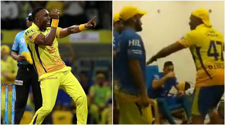 Dwayne Bravo dances for MS Dhoni in CSK dressing room