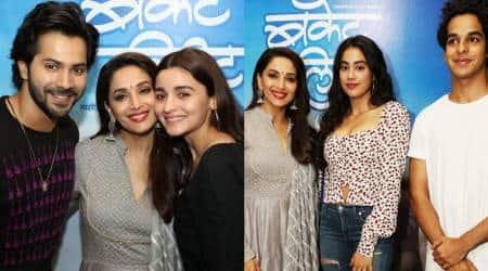 Bucket List screening: Alia Bhatt, Varun Dhawan, Janhvi Kapoor and others watch Madhuri Dixits Marathi debut
