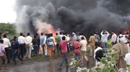 Bihar: Seven killed as Delhi-bound bus overturns, catches fire