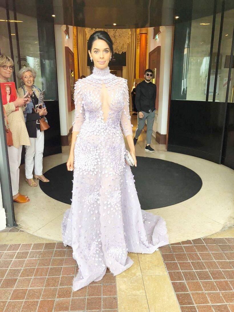 mallika sherawat at cannes film festival 2018