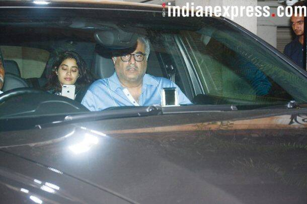 Jahnvi Kapoor and Boney Kapoor