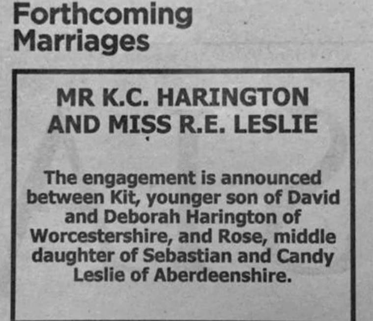 Engagement announcement of Kit Harington and Rose Leslie