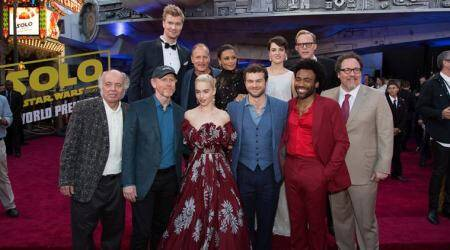 Solo A Star Wars Story debuts, brings Millennium Falcon to Hollywood
