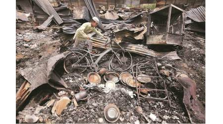 Madanpur Khadar fire: Over 50 families say lost everything as blaze guts slum