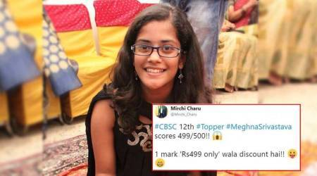 CBSE Class 12 result 2018: Meghna Srivastava scored 499/500; Netizens wonder where she left the 1 mark