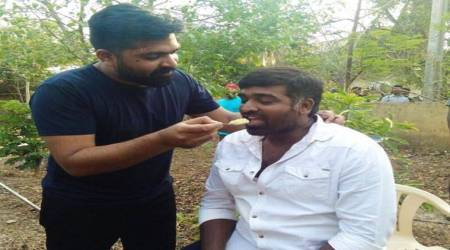 Simbu and Vijay Sethupathi are bromancing on the sets of Mani Ratnam's Chekka Chivantha Vaanam