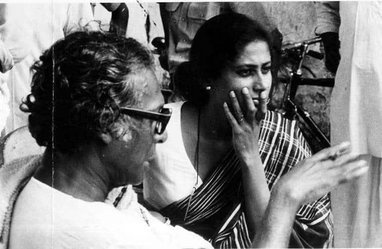 Mrinal Sen with smita patel