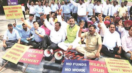 Chandigarh: Contractors stop work over non-payment of dues