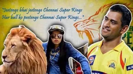 IPL 2018, Dhinchak Pooja, Dhinchak Pooja csk, Dhinchak Pooja IPL 2018, Chennai Super Kings, MS Dhoni, Chennai Super Kings MS Dhoni, favourite IPL team, Indian skipper MS Dhoni, Selfie maine le liya, IPL, CSK Dhinchak Pooja, indian express