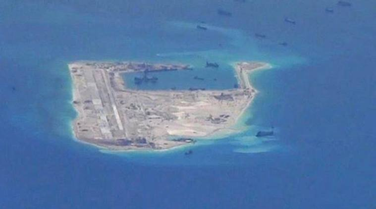 The US Defense Department which opposes China's installation of military facilities on outposts it has built up in the South China Sea declined comment
