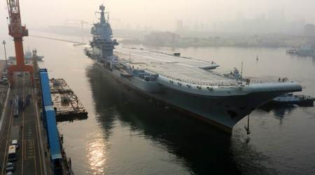 China's first home-built aircraft carrier begins seatrials