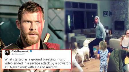 VIDEO: Thor's dramatic dance moves on Miley Cyrus' 'Wrecking Ball' terrifies his dog