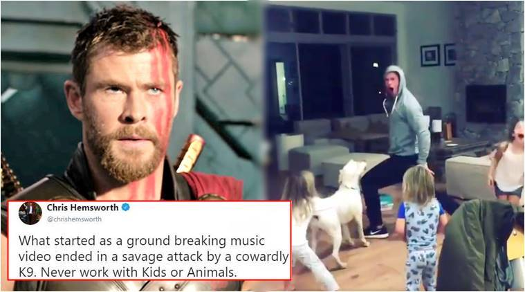 Chris Hemsworth, Chris Hemsworth thor, thor the RagnaROCK., Avengers Chris Hemsworth, Avenger movie, Hemsworth viral video, indian express, indian express trending news thor, thor movies