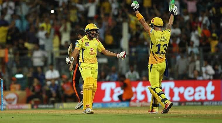 IPL 2018, Indian Premier League, CSK vs SRH, Sunrisers Hyderabad, Chennai Super Kings, Faf du Plessis, sports news, cricket IPL news, Indian Express