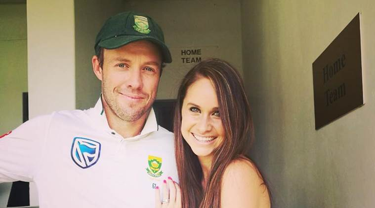 AB de Villiers with wife Danielle de Villiers