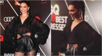 Deepika Padukone is a stunner in this all-black sheer-faux leather combo at the GQ Best Dressed Awards