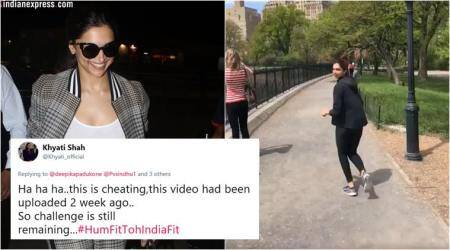 Deepika Padukone takes up #FitnessChallenge but gets trolled for sharing old video