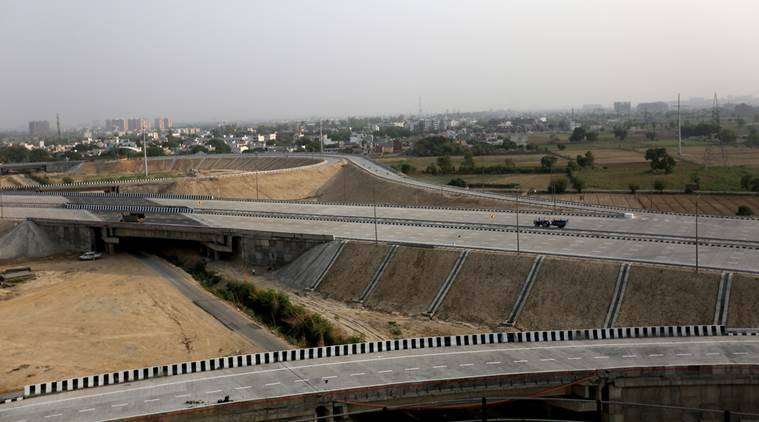 At the Eastern Peripheral Expressway, Saturday. (Express photo/Gajendra Yadav)