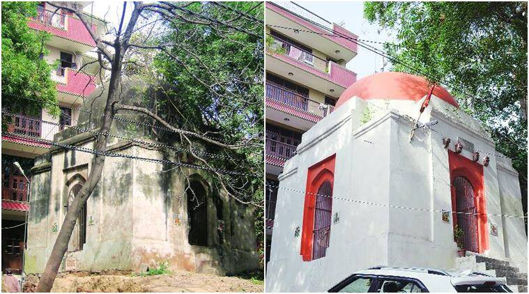 Tomb to temple in two months: In south Delhi, a monument changes colours